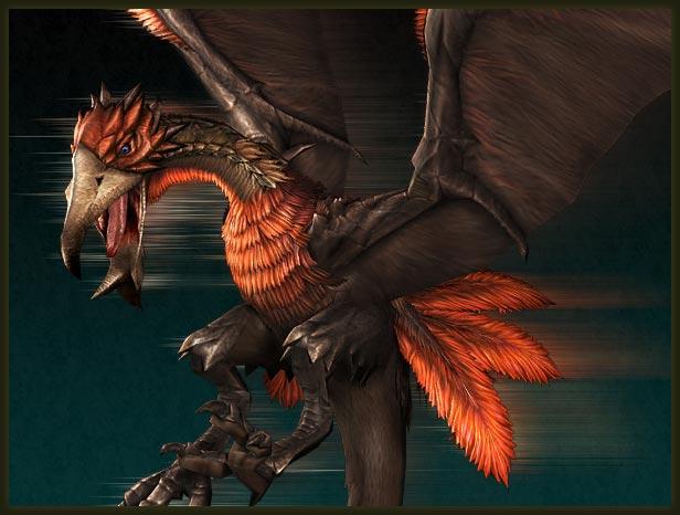 鳥のような姿をした新モンスター「ヒプノック」。翼や首周り、尻尾に羽毛を... CAPCOM:MH